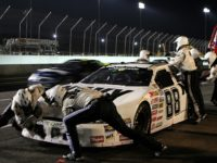 NASCAR pit crew provides fast car service