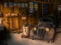 old car in garage